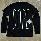 Mens Minimal Hipster Graphic Dope Typography Layered Long Sleeve T Shirt