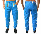 MENS DESIGNER ETO JEANS EM 382 CHINO TAPERED FIT TROUSERS CURVED CUFFED LEG PANT