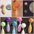 MAGNETIC Dangle Drop 11mm Button Stud Clip on Fake Fashion Earrings (MAG25)