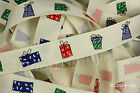 Reel Chic Ribbon Christmas Presents on Cream Grosgrain 19mm Wide RC04-01