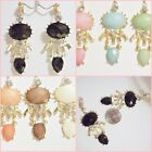 Rhinestone Bubble Fancy 2.5 inch Drop CLIP ON or Pierced Fashion Earrings 1 pr