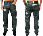 Mens New Designer ETO Jeans Regular Fit Straight Leg Trendy Coated Denim Bottoms