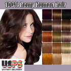 100% Real Grade AAA Clip In Remy Human Hair Extensions Full Head Long Soft E215