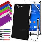HARD BACK SKIN CASE COVER, SCREEN GUARD & STYLUS PEN FOR SONY XPERIA Z3 COMPACT