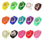 Cute Ladies Women Girl Geneva Silicone Quartz Crystal Stone Jelly Wrist Watch