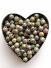 Czech Pressed Round Beads 4 & 6mm - Choose Colour - x25