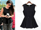 New Occident Fashion Chiffon Pleated Vest Party Cocktail Mini Dress With Belt