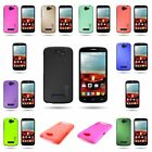 Hard Rubberized Slim Back Case for ALCATEL One Touch Fierce 2 Pop Icon A564c