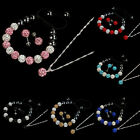 10MM Crystal Ball Jewelry Shamballa Bracelet Earrings Necklace Set New Gayly