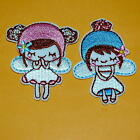 Pray Cute Angel Fairy Girl Kawaii Iron On Sew On Embroidered Badge Patch Sewing
