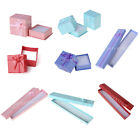 lot 12/24 Jewelry Gift Paper Boxes Ring Earring Necklace Watch Bracelet Case USA