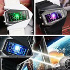 1pc Irregular Case LED Digital Date Alarm Lady Women Mens Unisex Watch Punk Gift