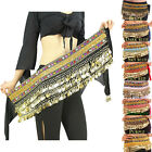 Belly Dance Costume Gold Coins Hip Skirt Scarf Wrap Belt Hip Scarf Skirt Velvet