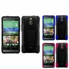 For HTC One E8 T-Stand Hybrid Hard Silicone Armor Cover Case Skin Shell