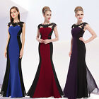 2015 New Ladies Purple Long Bridesmaid Gowns Evening Formal Party Dresses 09996