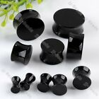 2pc Acrylic 4mm-20mm Double Flared Solid Saddle Tunnels Ear Plug Piercing