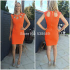 Sexy Cut Out Neck Women Cocktail Party Sheath Bodycon MIni Summer Club Dress B26