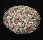 lf336n Red Blue Brown Khaki Cream Round High Quality Cotton Canvas Cushion Cover