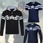 Captain America The Winter Soldier Mens Top Shirts T-shirt/Hoodie Sweater Jersey image