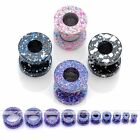 2pc Stainless Steel Gauge Dots Flared Screwed Ear Plug Tunnel Stretcher Expander