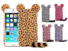 4.7 Inch Fashion 3D Cute Leopard With Tail PC Case Cover Skin for Apple iPhone 6