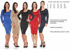 Sexy Ladies MISSY SIZE curvy Fashion Bodycon Party Cocktail Evening Dress S-XL