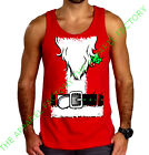 Santa Claus Costume Red Tank Top Outfit Funny Ugly Christmas Sweater Tee T Shirt