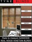 """SUNWOOD with cords venetian blinds - 35mm 1.5"""" slat made to measure wooden blind"""