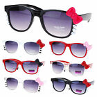 Womens 80s Pop Cat Bow Kitty Whisker Party Shade Fun Cute Sunglasses