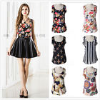 Hot Womens Summer Casual Chiffon Printing Vest Tops Tank Sleeveless Shirt Blouse