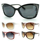 Women's Butterfly Fashion Sunglasses with Engraving Silver Rhinestones