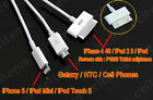 3IN1 Charger Cable for iPhone 6 Plus 6 5S 5 4S Google Nexus 4 5 7 Sony Huawei P8