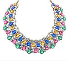occident luxury charming colour rhinestone crystal clavicle short jewel necklace