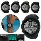 Waterproof Men's Digital LED Rubber Band Military Wrist Sports Hiking Watch