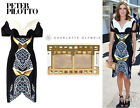 $2463 NWT PETER PILOTTO SIZE 6 UK 2 US  Vera Dress in Marble Gold