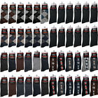 12 Pairs Mens Multi Color Pattern Cotton Fashion Casual Dress Socks Size 10-13