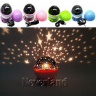 Rotation Starry Star Sky Flashing Romantic Moon Room Night Light Lamp Projector