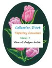 PRE-SALE ~ Choice of Flowers Collection D'Art Tapestry Canvases 25 x 30 cm~7 - 1
