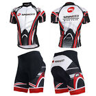 Men Bicycle Wear Gel Padded Shorts Cycling Jersey Kits Outdoor Bike Clothing
