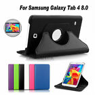 Premium 360°Rotating Flip Case Cover For New Samsung Galaxy Tab 4 8.0 T330