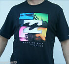 BILLABONG Mens T Shirt  Slim Fit Medium or Large Black Fluro New