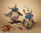 "16.5""Metal Standing Owl Candle Holder Halloween Boo Spider Home Decor Decoration"