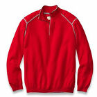 Tommy Bahama Red Extra Fine Grand Merino Wool 1/2 Zip Pullover Sweater MSRP $168