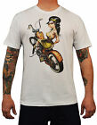 Men's Hard Tail Tyson McAdoo Tattoo T-shirt Motorcycle Pinup Rockabilly Vintage