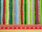 "Watermelon colours stripe Fabric / sold by the metre 44"" wide Polycotton"