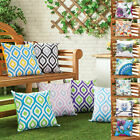 Water Resistant Outdoor Printed Cushions Washable Scatter Garden Cane Furniture