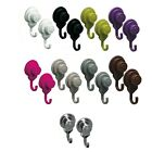 Strong Hold Vacuum Suction Cup Hooks Shower-kitchen Walls Organizer Loofah Set 2