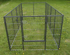 Giant Galvanised 8ft x 4ft Puppy Run KT6 with or without rubber mattihng
