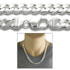 925 Sterling Silver Men's Solid Cuban Curb Chain Necklace 9mm (250 Gauge)