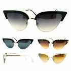 Womens Mod Half Rim Cat Eye 20s Retro Fashion Goth Sunglasses
